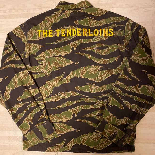 TENDERLOIN(テンダーロイン)の人気品! TENDERLOIN スーベニア バンブー ジャケット カモ グリーン メンズのジャケット/アウター(スカジャン)の商品写真