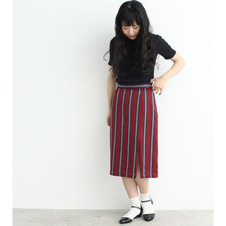 ドットアンドストライプスチャイルドウーマン(Dot&Stripes CHILDWOMAN)のDot&Stripes CHILD WOMAN ストライプ 深スリットスカート(ひざ丈スカート)