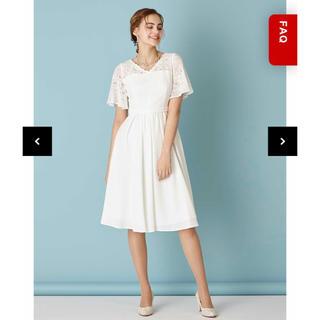 エメ(AIMER)の(最終値下げ)AIMER レーススリーブ×タックギャザーリトルウェディングドレス(ウェディングドレス)