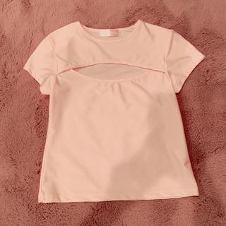ハニーミーハニー(Honey mi Honey)のthe  vargins 胸あきTシャツ ピンク(Tシャツ(半袖/袖なし))