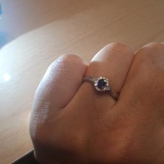pomさま14日までお取り置き Pt900 サファイアとダイヤのリング(リング(指輪))