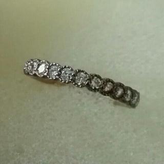 K10 ダイヤモンド0.20ct ハーフエタニティ ピンキーリング(リング(指輪))