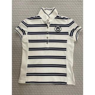 マンシングウェア(Munsingwear)の美品■マンシングウエア ボーダー系ポロシャツ Lサイズ(ウエア)