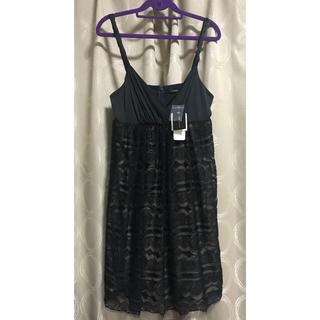 ビーシービージーマックスアズリア(BCBGMAXAZRIA)のビーシービージーマックスアズリア BCBG 黒 レース ドレス 新品タグ付き(ミディアムドレス)