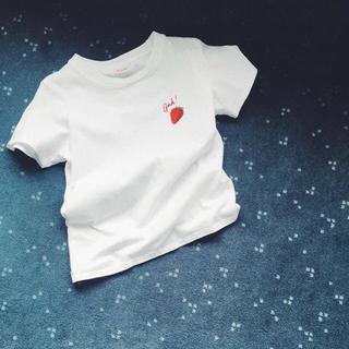 エディットフォールル(EDIT.FOR LULU)のlisa says gah ストロベリー エンブロイダリー T いちご Tシャツ(Tシャツ(半袖/袖なし))