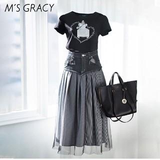 エムズグレイシー(M'S GRACY)の香水瓶モチーフ カットソー38(Tシャツ(半袖/袖なし))