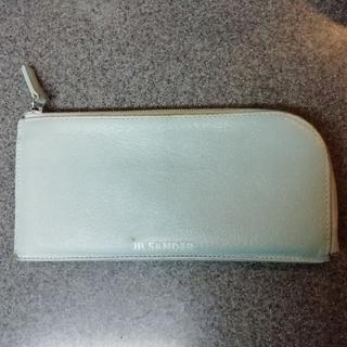 ジルサンダー(Jil Sander)のJIL SANDER ブルーグレイ長財布(財布)