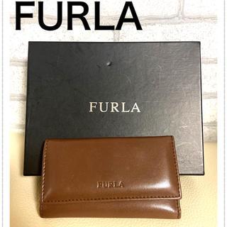 フルラ(Furla)の美品★フルラ FURLA 6連キーケース パテントレザー ブラウン(キーケース)