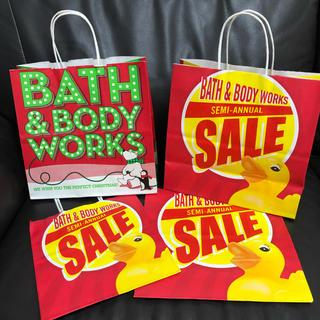 バスアンドボディーワークス(Bath & Body Works)のバスアンドボディーワークスBath & Body Works 紙袋4枚ショッパー(ショップ袋)