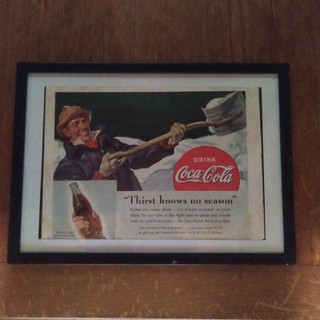 コカコーラ(コカ・コーラ)のアンティーク【1940〜60年代「企業広告」額装品】(その他)