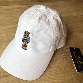 ラルフローレン(Ralph Lauren)の最新作 ポロベア   プレッピーベア 白 キャップ 帽子 大人OK(キャップ)