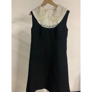 ミュウミュウ(miumiu)のmiu miu・スパンコール装飾 レイヤードドレス(ミニワンピース)