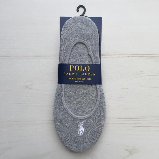 POLO RALPH LAUREN(ポロラルフローレン)の新品 ラルフローレン レディースフットカバー 靴下 3足セット グレー 白 黒 レディースのレッグウェア(ソックス)の商品写真