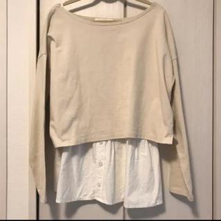 フーズフーチコ(who's who Chico)のchico シャツ風キャミ×長袖トップス (Tシャツ/カットソー(七分/長袖))