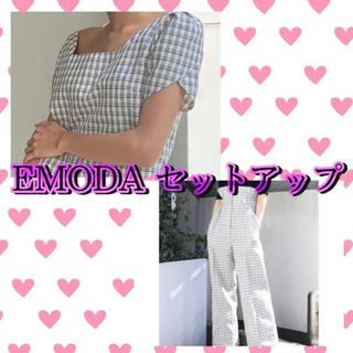 エモダ(EMODA)の最終値下げ EMODA セットアップ 白 ホワイト(セット/コーデ)