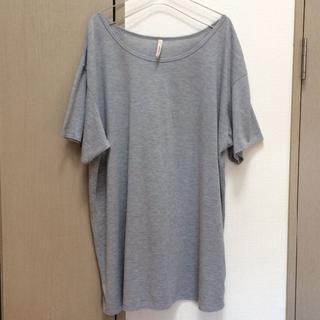 ピーチジョン(PEACH JOHN)の【ピーチジョン】オーバーサイズ Tシャツ グレー フリーサイズ ゆったり(Tシャツ(半袖/袖なし))
