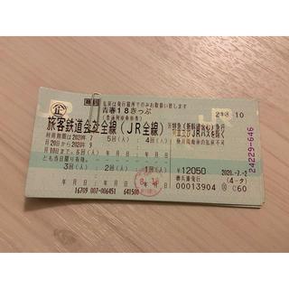 ジェイアール(JR)の青春18きっぷ 4回分 (鉄道乗車券)