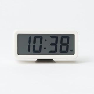 ムジルシリョウヒン(MUJI (無印良品))の●新品未開封● 無印良品デジタル時計/小 掛置時計/ホワイト(置時計)