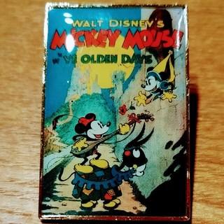 ミッキーマウス(ミッキーマウス)のミッキー&ミニー レトロ ピンバッジ(バッジ/ピンバッジ)
