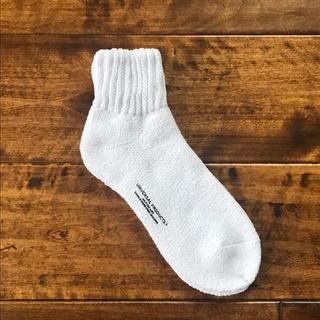 ワンエルディーケーセレクト(1LDK SELECT)の【新品未使用品】UNIVERSAL PRODUCTS ソックス 靴下 ホワイト(ソックス)