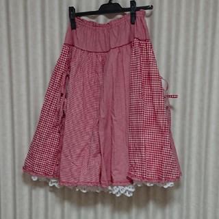 ピンクハウス(PINK HOUSE)の新品未使用ピンクハウス ギンガムスカート(ひざ丈スカート)