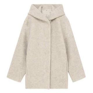 ムジルシリョウヒン(MUJI (無印良品))の☆ 無印良品 Lサイズ ウール混ニットフード付きコート(ロングコート)