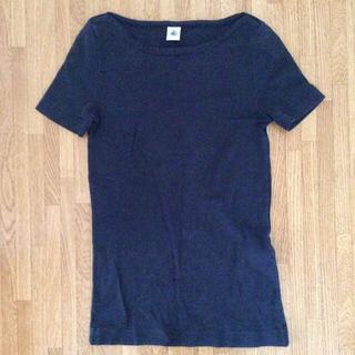 プチバトー(PETIT BATEAU)のネイビー カットソー(Tシャツ/カットソー)