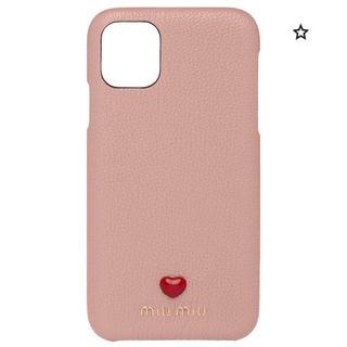 ミュウミュウ(miumiu)のレア♡iPhone11 ケース miumiu  新品 ピンク ミュウミュウ(iPhoneケース)