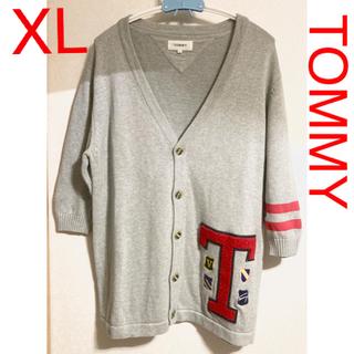 トミーヒルフィガー(TOMMY HILFIGER)のTOMMY コットン カーディガン XL(カーディガン)