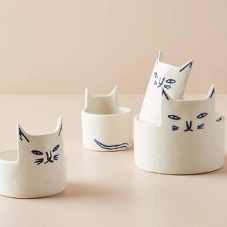アンソロポロジー(Anthropologie)のアンソロポロジー ケイ ブレグヴァード 猫のメジャーカップ♡(調理道具/製菓道具)
