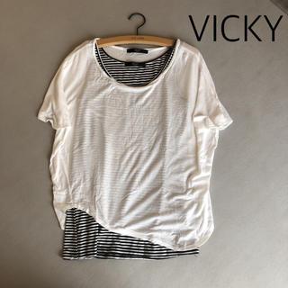 ビッキー(VICKY)のVICKY 半袖カットソー&インナー(カットソー(半袖/袖なし))