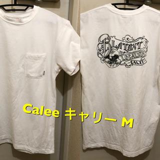 キャリー(CALEE)のMサイズ!日本製calee  キャリー 古着半袖ポケットTシャツ 白 (Tシャツ/カットソー(半袖/袖なし))