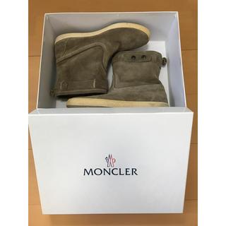 モンクレール(MONCLER)のMONCLER モンクレール 内ボア スウェード レザーペコスブーツ(ブーツ)