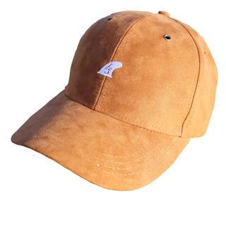 カルバンクライン(Calvin Klein)のカリフォルニア系☆LSフィンキャップ ブラウン スエード  帽子 STUSSY(キャップ)