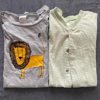 エイチアンドエム(H&M)の送料込み!H&M パジャマ 2枚セット 74(パジャマ)