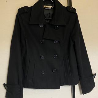 マジェスティックレゴン(MAJESTIC LEGON)のウールPコート 黒 ショート丈(ピーコート)