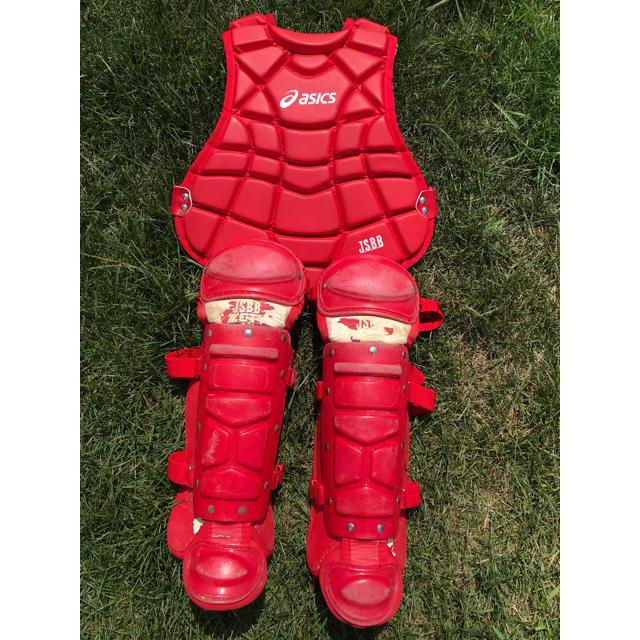 ZETT(ゼット)のキャッチャー プロテクター レガース 防具 少年 スポーツ/アウトドアの野球(防具)の商品写真