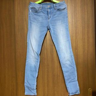 ジーユー(GU)のジーンズ 水色(デニム/ジーンズ)