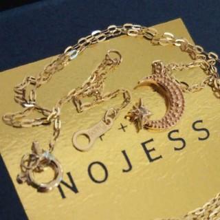 ノジェス(NOJESS)の専用❕2点 ノジェス K10 ネックレス 月 ダイヤ & アガット クレセント(ネックレス)