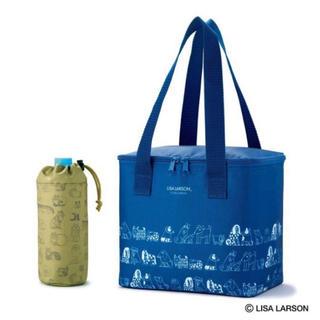 リサラーソン(Lisa Larson)の大人のおしゃれ手帖  リサ・ラーソン 大容量保冷バッグ&ペットボトルホルダー(弁当用品)