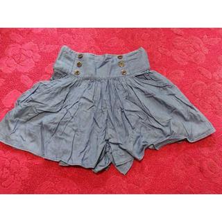 ローリーズファーム(LOWRYS FARM)のローリーズファーム薄いデニムショートパンツFキュロットスカート(キュロット)