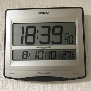 カシオ(CASIO)のカシオ CASIO ID-26J [温度計付電波時計](置時計)