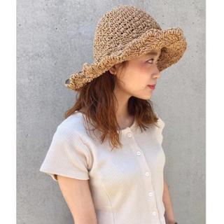カスタネ(Kastane)のペーパーBIG HAT 【kastane】(麦わら帽子/ストローハット)