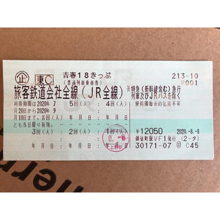 青春18きっぷ 4回分 (鉄道乗車券)