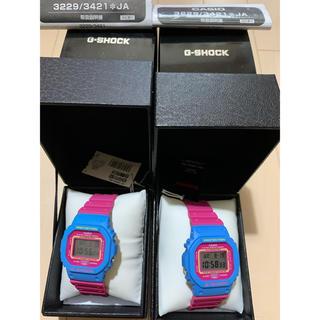 値下交渉可dw 5600 G-SHOCK レトロ 新品 未使用 ブルー ピンク(腕時計(デジタル))