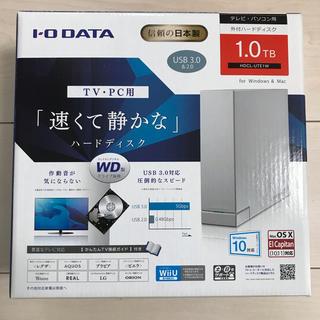 アイオーデータ(IODATA)のIO DATA 外付けハードディスク 1TB(PC周辺機器)