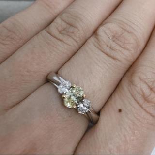イエローダイヤモンドリング 高級リング 再値下げ!(リング(指輪))