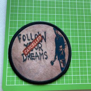 バンクシー follow your dreams cancelled ワッペン(型紙/パターン)