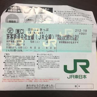 青春18きっぷ 2回 返却不要 即日(鉄道乗車券)