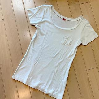 ダブルスタンダードクロージング(DOUBLE STANDARD CLOTHING)のDOUBLE STANDARD CLOTHING 白 Dマーク Tシャツ(Tシャツ(半袖/袖なし))